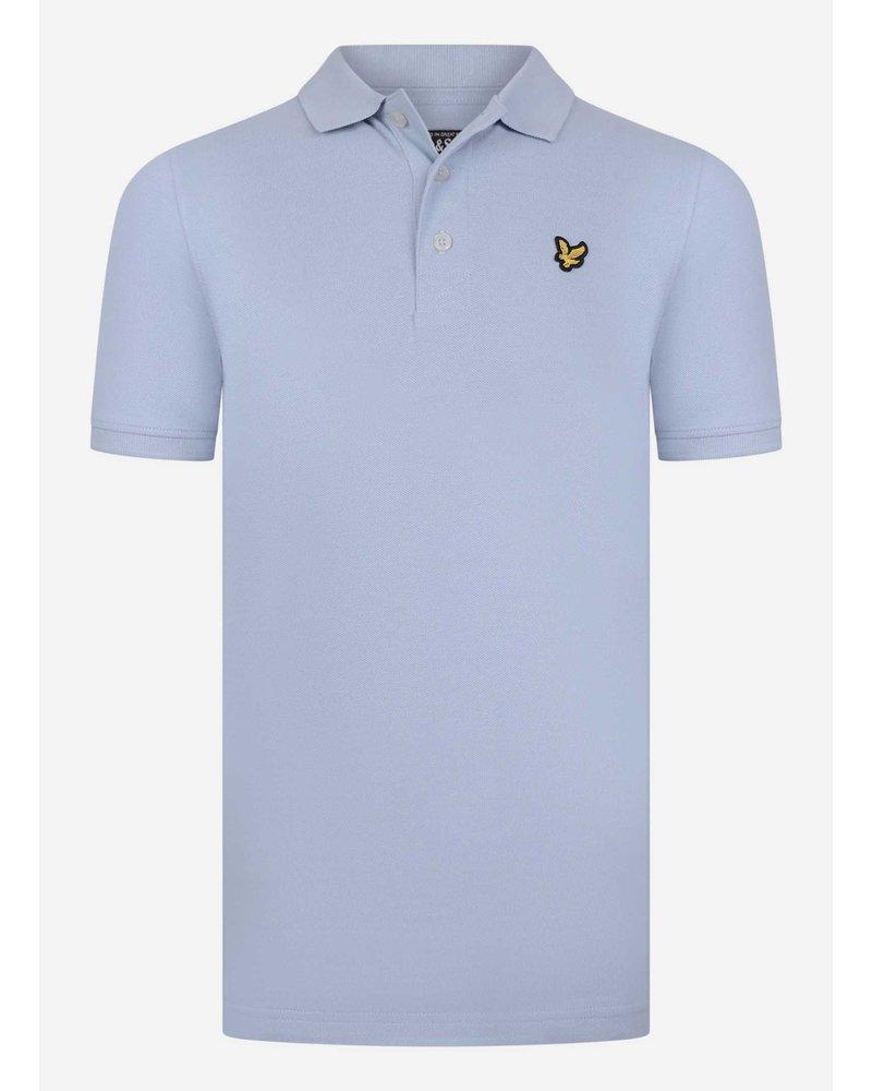 Lyle & Scott classic polo shirt chambray blue