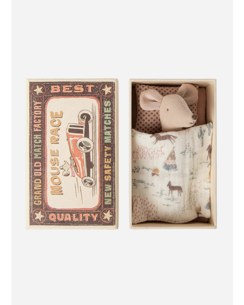 Maileg mouse in match box - little sister mouse