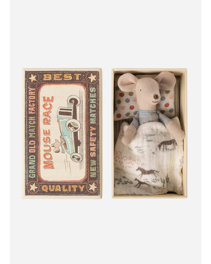 Maileg mouse in match box - little brother mouse