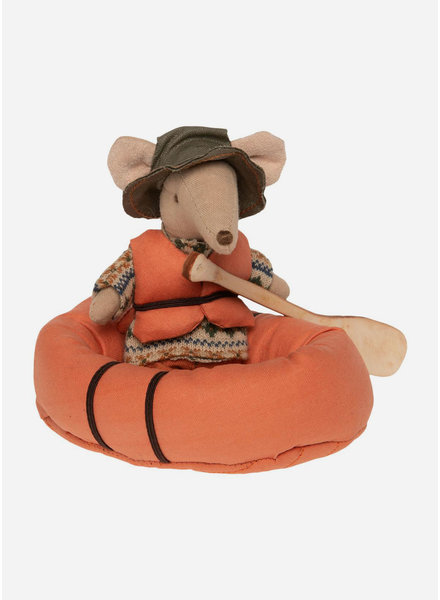 Maileg rubber boat - mouse