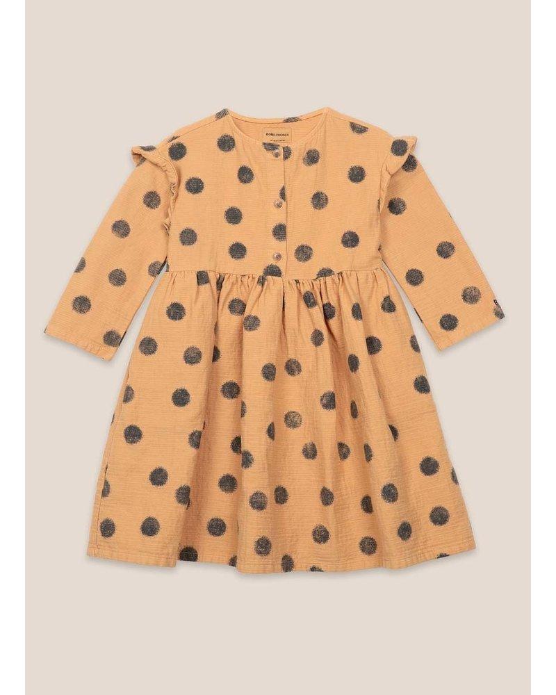 Bobo Choses spray dots woven dress