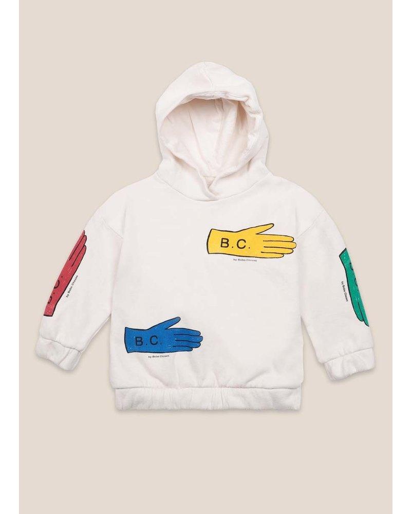 Bobo Choses lost gloves hooded sweatshirt