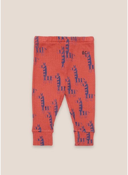 Bobo Choses zebras all over red leggings