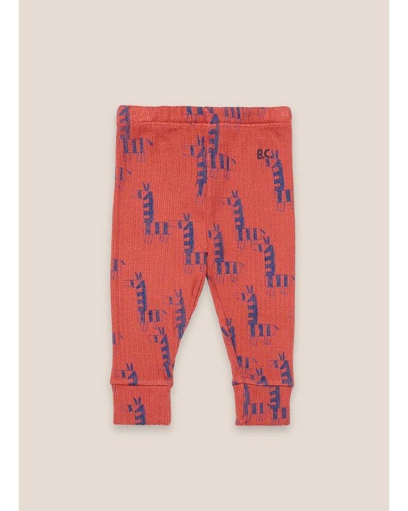Bobo Choses zebras all over red leggings