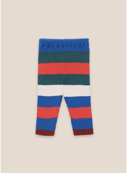 Bobo Choses multicolor stripes knitted leggings