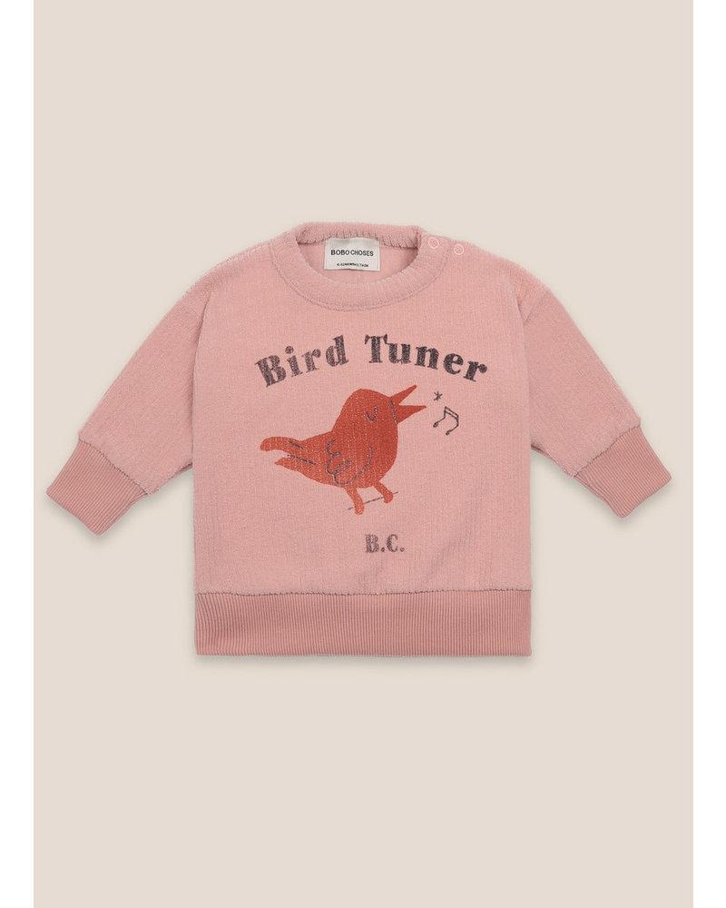 Bobo Choses bird tuner terry towel sweatshirt