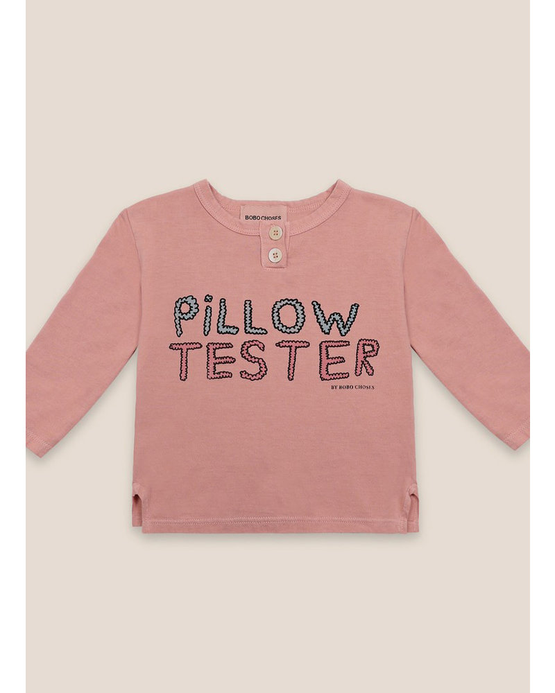 Bobo Choses pillow tester buttoned t-shirt