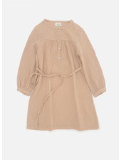Long Live The Queen crinkle dress rose beige