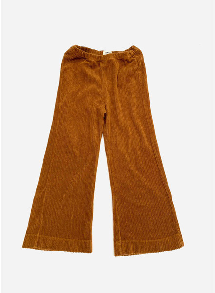 Long Live The Queen flared pants golden brown