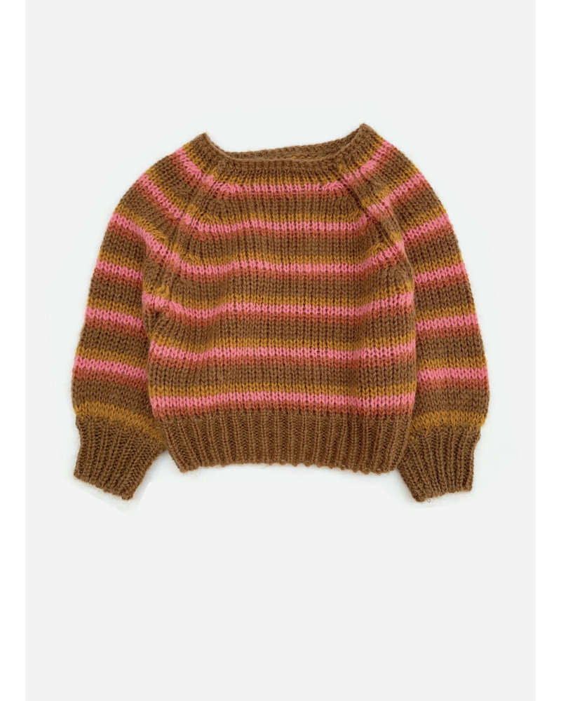 Long Live The Queen striped sweater copper stripe