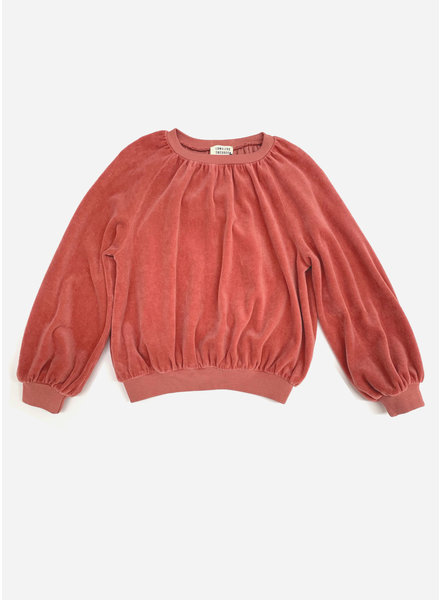 Long Live The Queen velvet sweater dusty rose