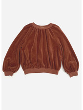 Long Live The Queen velvet sweater rootbeer