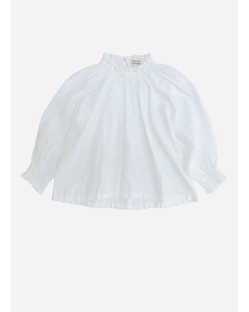 Long Live The Queen linen blouse white