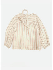 Long Live The Queen striped blouse orange stripe