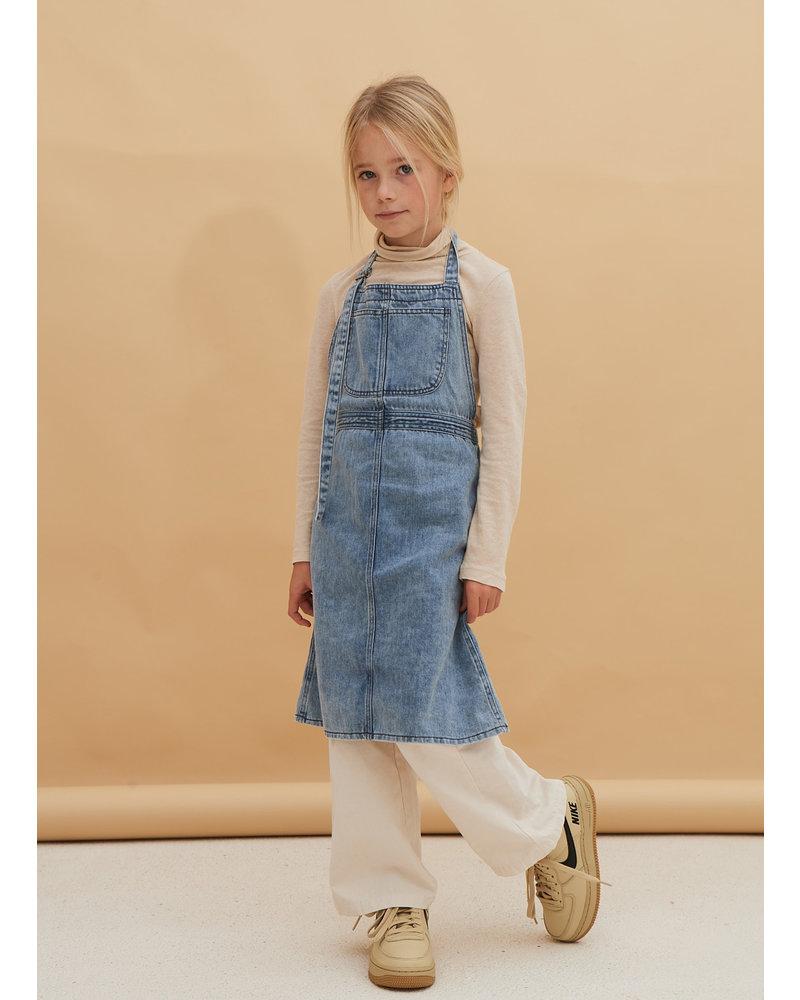 Long Live The Queen apron dress blue denim