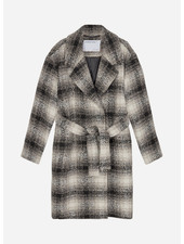 Designer Remix Girls jayden coat black/beige check