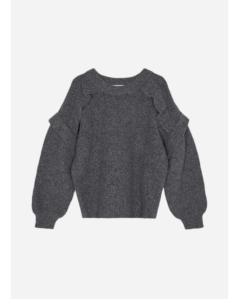 Designer Remix Girls silvia panel sweater dark grey melange