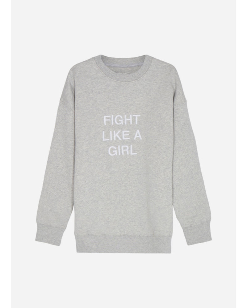 Designer Remix Girls parker oversized light grey melange