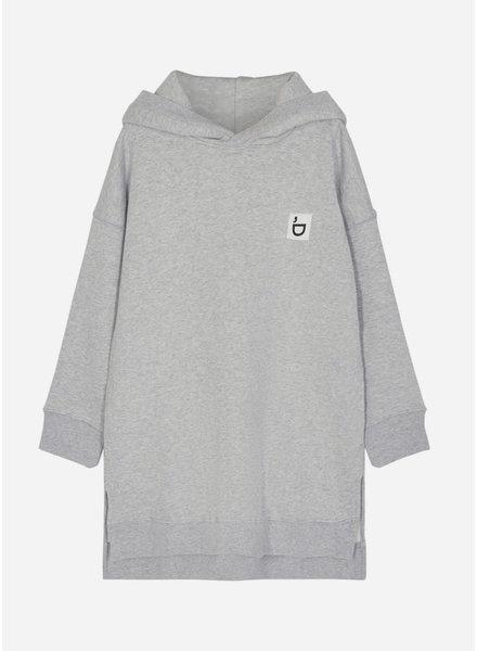 Designer Remix Girls parker hoodie dress light grey melange