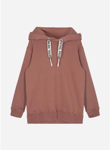 Designer Remix Girls parker string hoodie brown