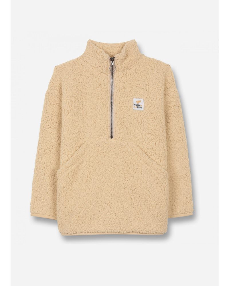 Finger in the nose lazybear ecru - oversized sherpa sweater
