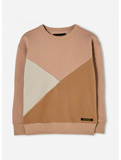 Finger in the nose jecky beige colorblock sweater