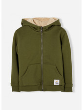 Finger in the nose hooper city khaki reversible zip hoody
