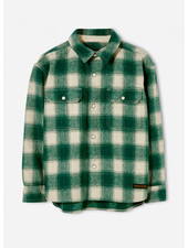 Finger in the nose new dusk emerald checks long sleeve woven shirt