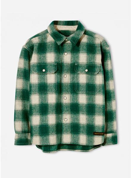 Finger in the nose new dusk emerald checks long sleeve woven shirt