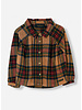 Finger in the nose lakeview walnut checks long sleeve woven shirt