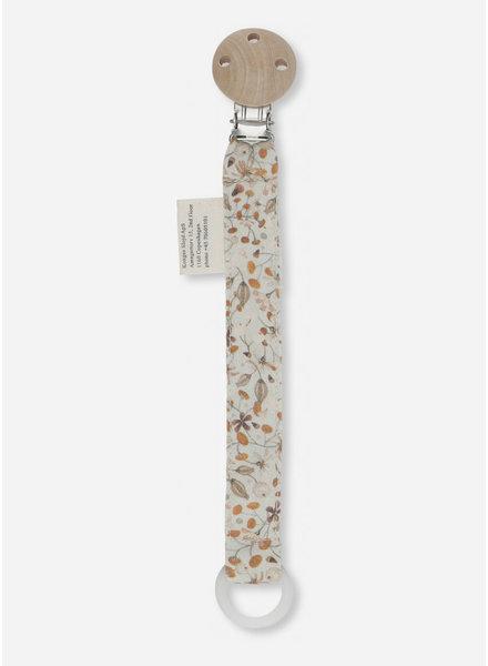 Konges Slojd pacifier strap cotton flower field