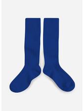 Collegien *kniekous bleu eclatant