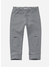 Mingo winter legging stripes black/white