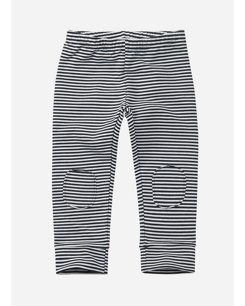 Mingo winter legging stripes black/white