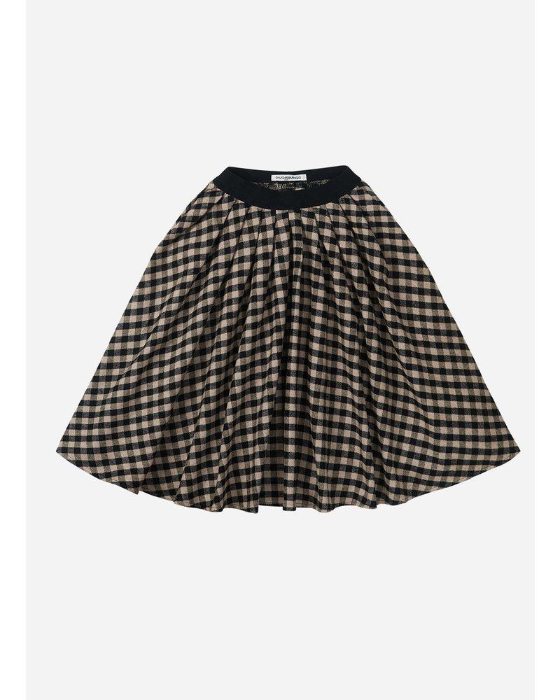 Mingo checked flannel midi skirt caramel/black