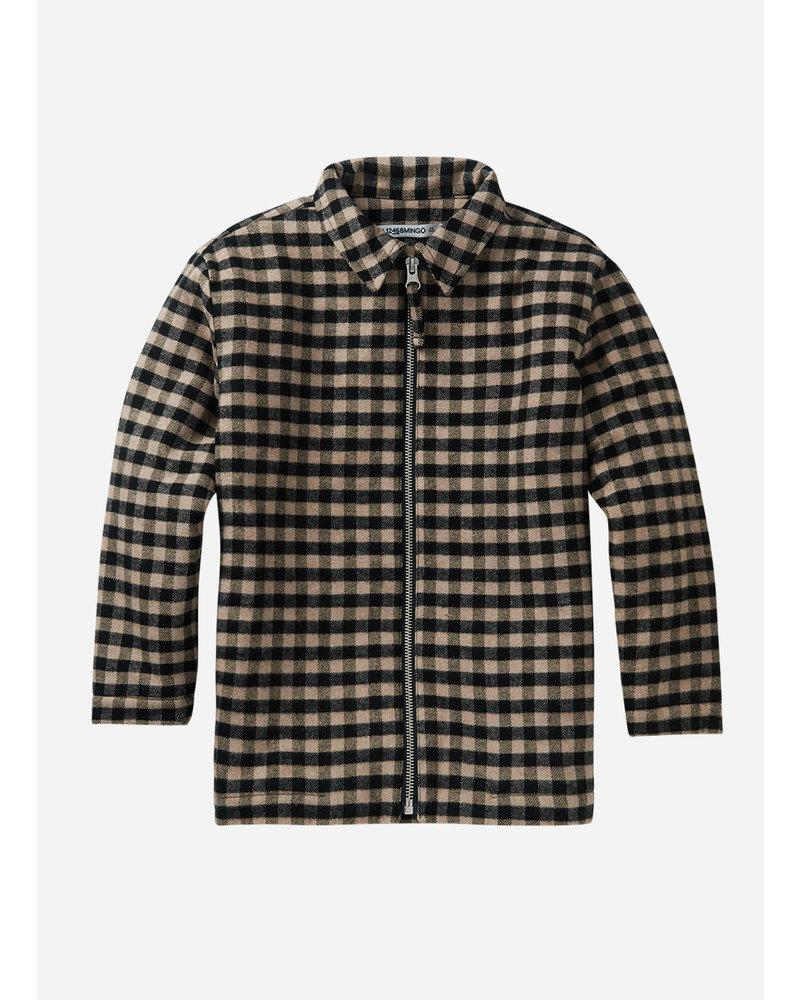 Mingo checked flannel shirt caramel/black