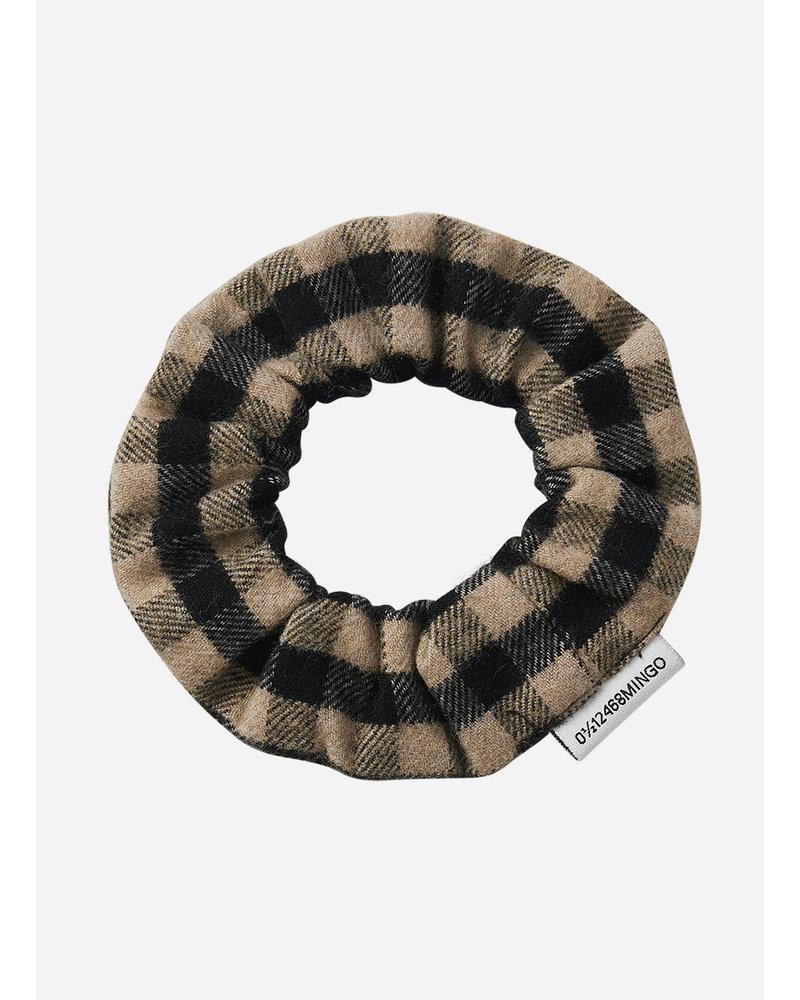 Mingo checked flannel scrunchie caramel/black