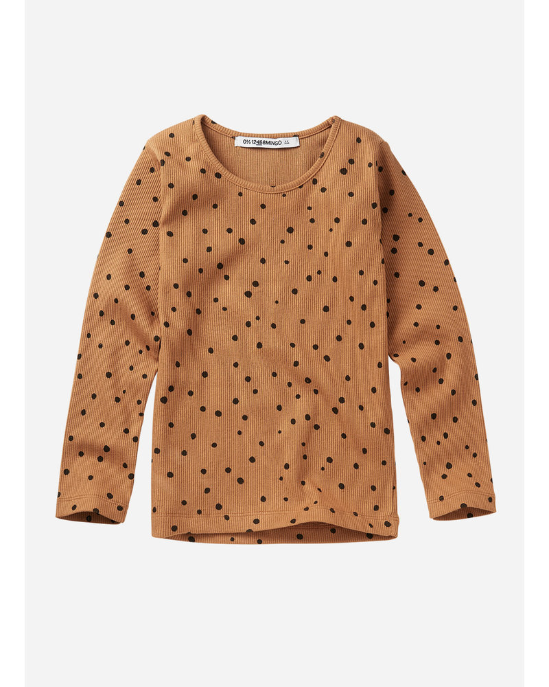 Mingo rib top dots caramel/black