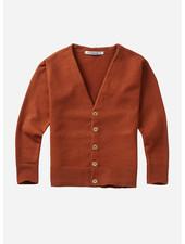 Mingo soft knit cardigan dark ginger
