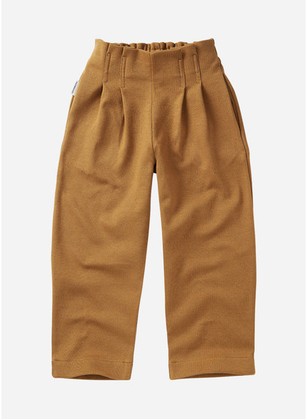 Mingo jaquard trouser ochre
