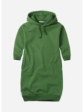 Mingo hoodie sweater dress moss green