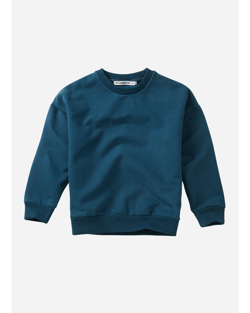 Mingo oversized sweater teal blue