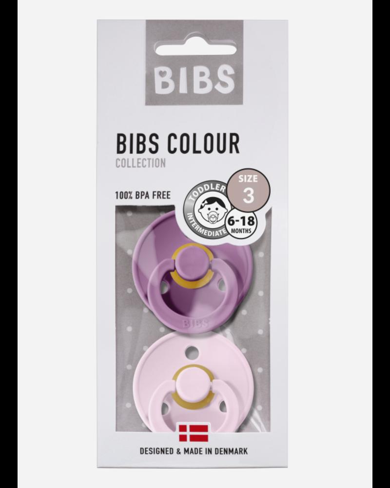 Bibs *T3 fopspeen natuurrubber lavender - baby pink