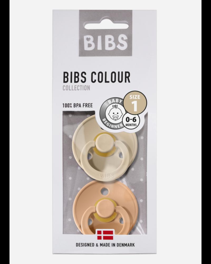Bibs T1 fopspeen natuurrubber vanilla - peach