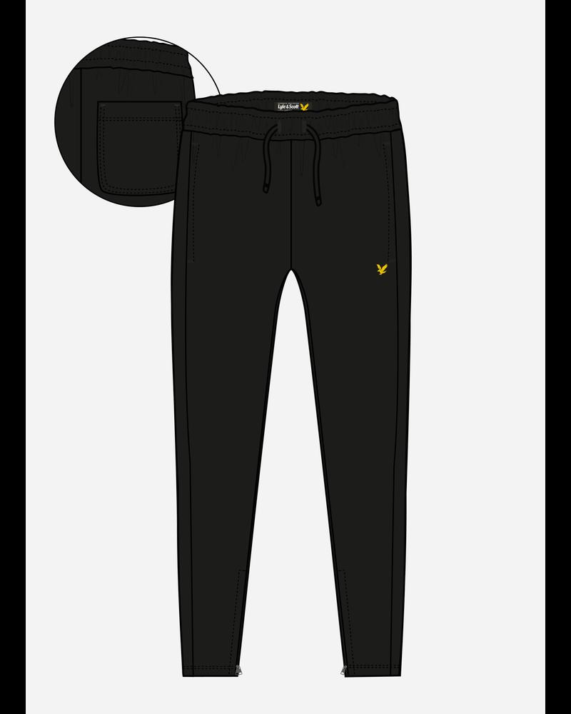 Lyle & Scott zip skinny bb jogger black