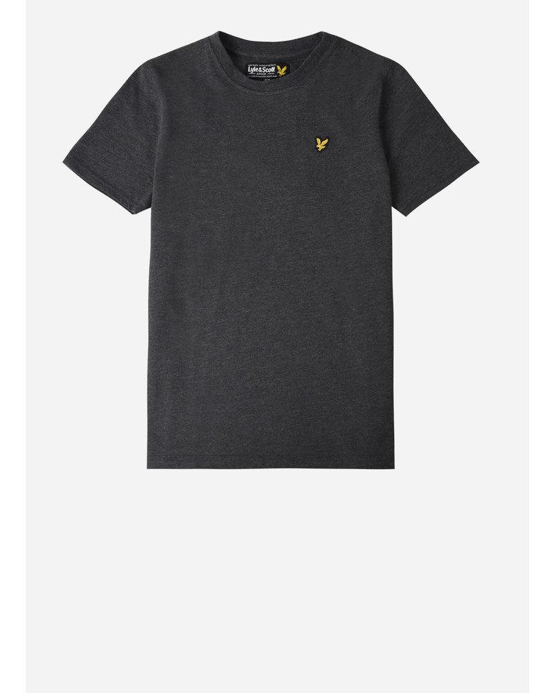 Lyle & Scott classic shirt charcoal grey marl