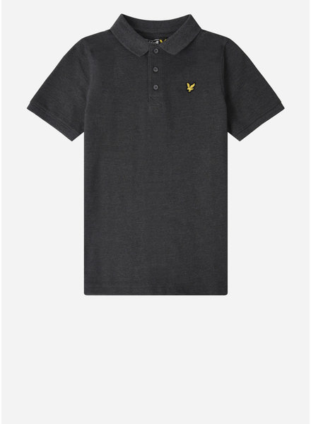 Lyle & Scott classic polo shirt charcoal grey marl