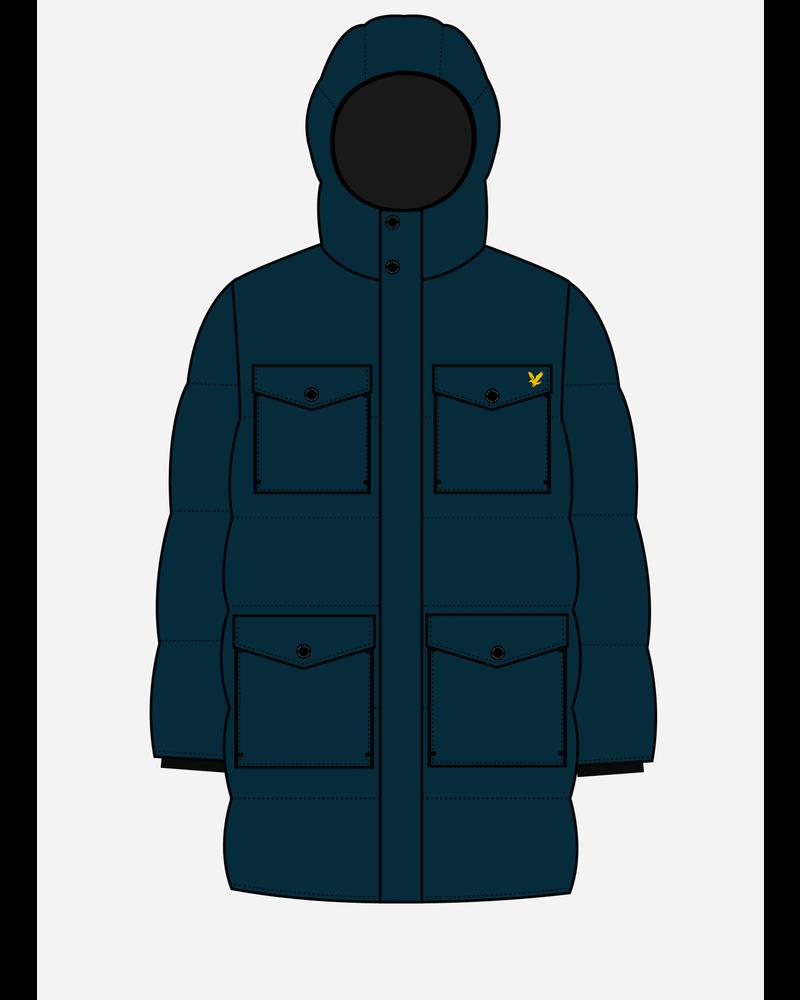 Lyle & Scott heavyweight pocket longline navy blazer