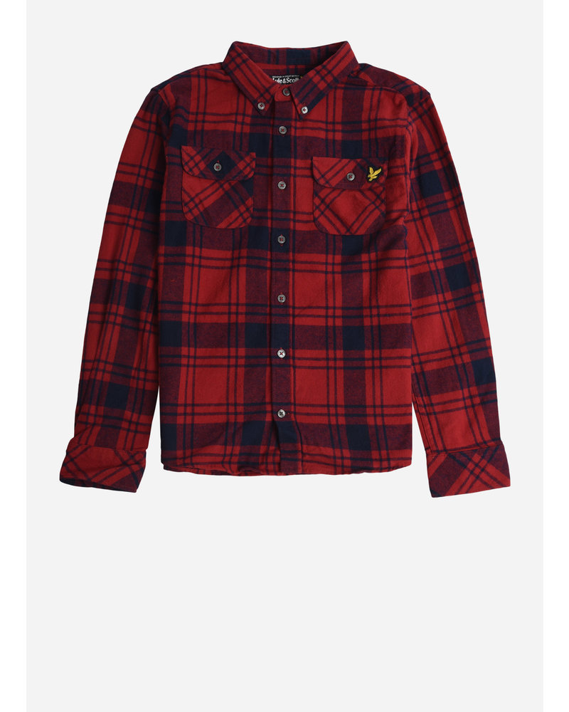Lyle & Scott buffalo check shirt tango red