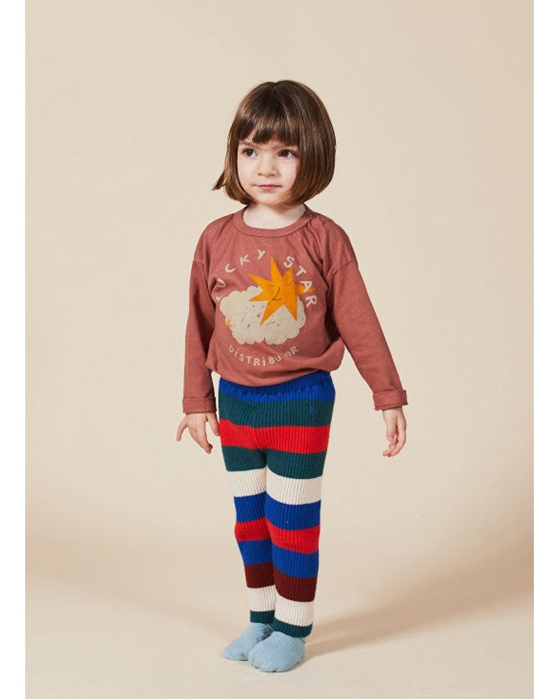 Bobo Choses multicolor stripes knitted leggings
